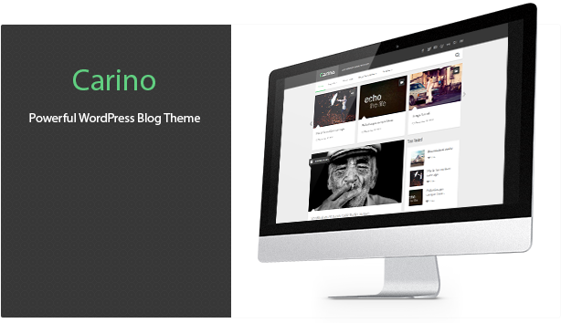 WordPress theme Carino - Retina Responsive Wordpress Blog Theme (Personal)